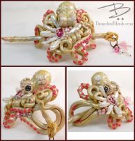 Octopus Hair Ornament by TinfoilHalo