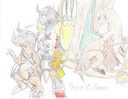 Pokemon and Digimon COLOR by Tokiball12345