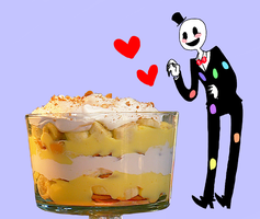 splendorman and banana pudding by WildMonkeyButts