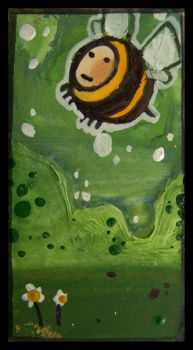 Little Paintings - Bee by Duffzilla