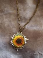 Sunflower Pendant by wee-free-fayries
