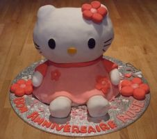 Hello kitty cake by Shoshannah84