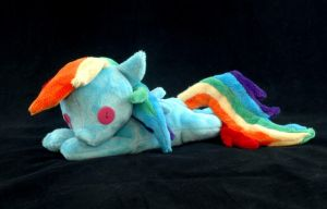 Beanie Baby Rainbow Dash Plushie by WhiteHeather