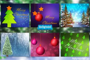 Christmas Backgrounds Bundle by BackgroundStore