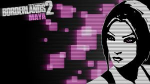 Borderlands 2 Wallpaper - Blacklist (Maya) by mentalmars