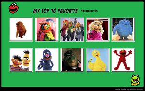 My Top 10 Favorite Muppets by hershey990