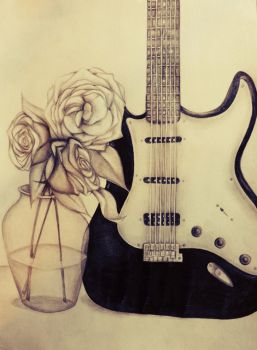 Guitars and Roses by darkdaydreamers