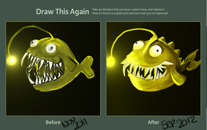 Draw this again: Angler by Dellisa121