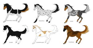 Dog/Horse Hybrid Adopts 2 (CLOSED) by DinoGirl500