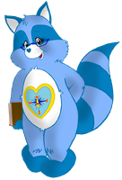 Guidance heart Raccoon by CrazyWackyBonkerz