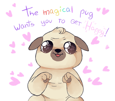 The Magical Pug by CosmicKitties