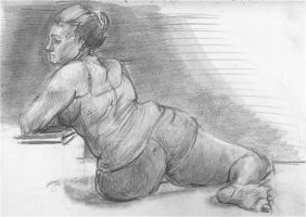 March 7th Life Drawing by saturnmarieson