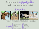 Equine Artist Template by SlightlyMadStables