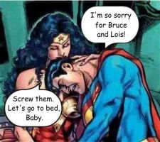Wonder woman and Superman will be together! by godstaff