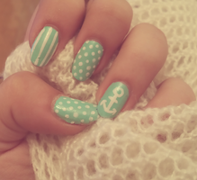 Pin Up nail art by niqitaMonster