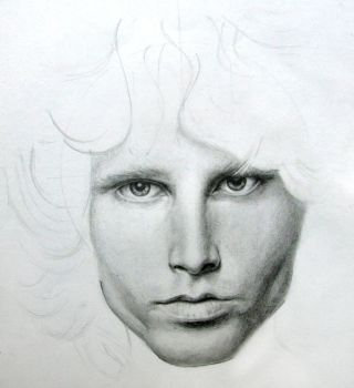 Jim Morrison WIP 1 by Mguin