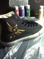 Converse customization Legend of Zelda theme #2 by skinny-artist