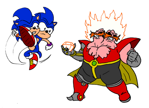 SoNic Vs Robotnik By Smileblackheart by HeartinaRosebud