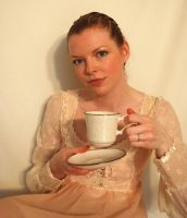 Tea Drinker Stock 2 by chamberstock