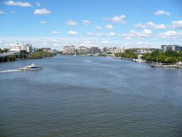 Brisbane City + River 3 by chamara-stock