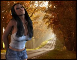 Country road in Autumn by Nicholas2004