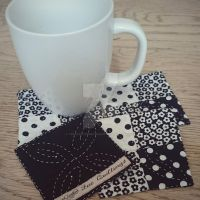 Coasters, Black and White by TerraRavenBearheart