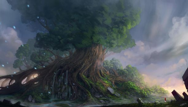 Yggdrasil II by JJcanvas