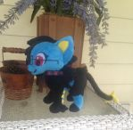 Azura the Luxray Plush Commission by Sparkz8D