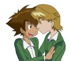 Digimon: Yamachi - Kissing You by Shigerugal