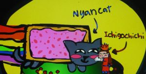 Nyan Cat And Ichigochichi (PIC #1) by KambalPinoy
