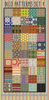 Deco Patterns Set 4 by HGGraphicDesigns