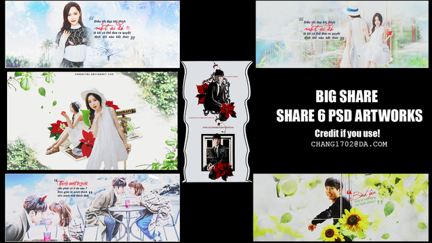 BIG SHARE : SHARE 6 PSD ARTWORKS by Chang1702