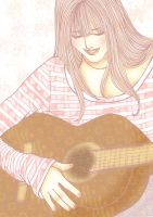 Just a Doodle 1 - Guitar Girl by baka-shironeko