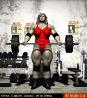 Erika Olsson - wrestler - 6ft 6in 280lbs - 01 by theamazonclub