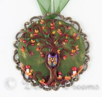 Autumn Tree of Life Pendant by DeidreDreams