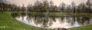 Winter Lake - Stadspark | Antwerp by Ragnarokkr79