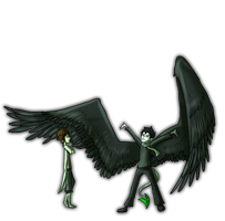 Mori and Ari: Wings by LivingAliveCreator