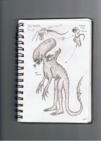 SketchBook Drawings 2- Xenomorph Life Cycle by Pyrovilekiller