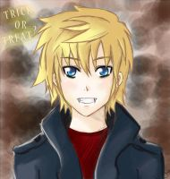 Roxas - Trick or Treat? by Twilight--Hope