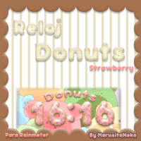 Reloj Donut Strawberry OwO by marusitaneko