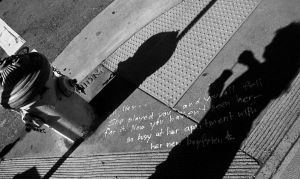 The inscription on the ground by JordiTrenzano