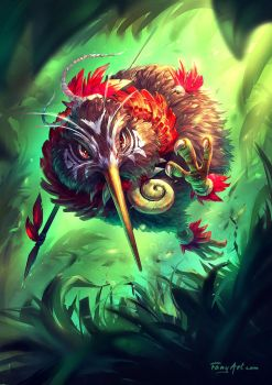 Kiwarrior the Kiwi Maori Warrior by Fany001