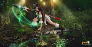 League of Legends: Nidalee, the Bestial Huntress. by DidsRainfall