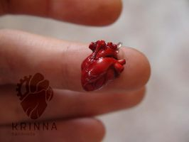 Tiny heart from polymer clay by Krinna