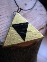 Golden Triforce Necklace by Kryptoeyez