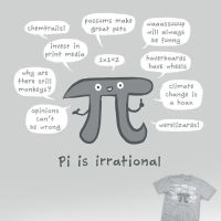 Irrational Pi - tee by InfinityWave