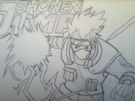 Magazine Art Project Inked by onepiecefan15