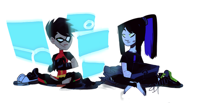 hacking and chill by spectral-zura