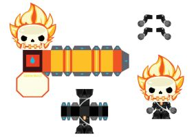 Ghost Rider Minipapercraft Template by henrydig