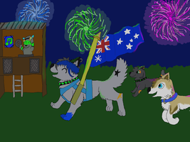 Australia Day 2011 by WolfcalledNight